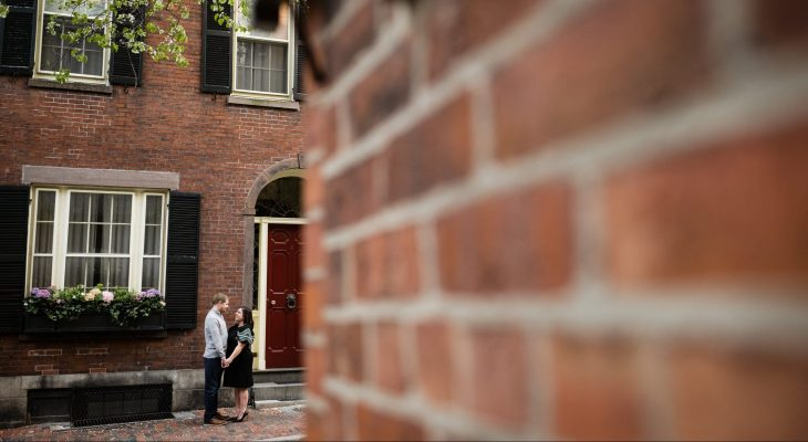 Boston Beacon Hill Engagement Session